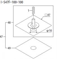 ABHPN8664 富士 FUJI QP242 243 10.0吸嘴 方盘带反光纸吸嘴 FUJI NOZZLE SMT贴片机吸咀